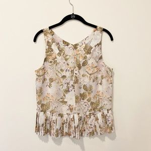 Rebecca Taylor v-neck floral silk blouse